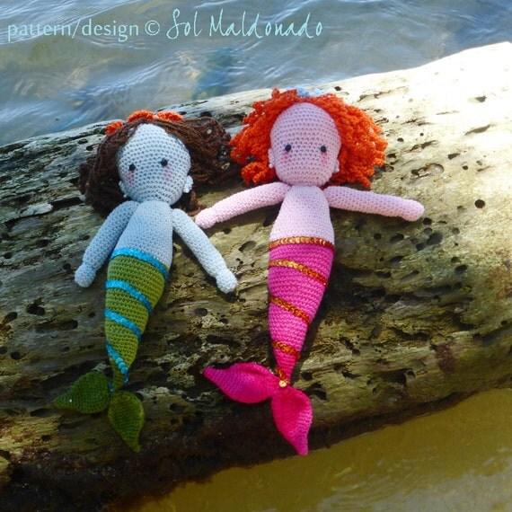 Amigurumi Mermaid Pattern : Mermaid amigurumi Doll Crochet Pattern PDF Instant Download