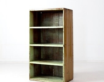 FREE SHIP  vintage cubby storage, primitive shelves, book case