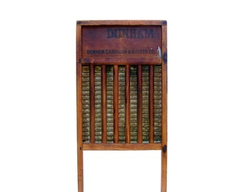 Vintage Washboards Antique Dunham Wooden Washboard Rustic Wood & Brass Laundry Tool Farmhouse Decor Vintage Advertising Sign