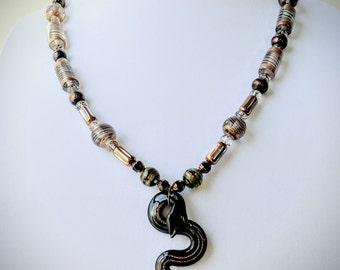 "Beaded Necklace- ""Serpentine Snake"""