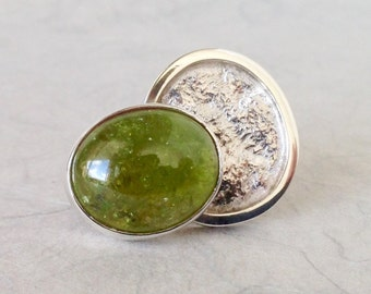 Silver Statement Ring, Rare Grossular Garnet, unique handmade gift, ready to ship