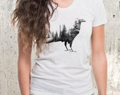 Blackbird & Forest Double Exposure Women's T-Shirt - Women's American Apparel Tri-Blend T-Shirt