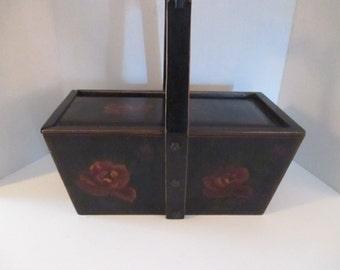 Vintage Box Slide Lid Black Wooden Asian Style Home Decor Storage Boxes YourFineHouse Vintage Treasures Candle Storage ShipsInternationally
