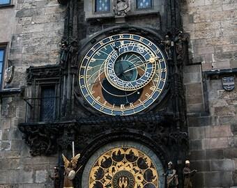 Prague Astronomical Clock Prague Orloj Medieval Circa 1410 Czech Republic Signed Photo Surreal Dark Jewel Tones Art by LadyAlchemy13