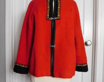 Vintage 70s Rolf Drangsgaard Womens Wool Sweater Norwegian Dale of Norway Style