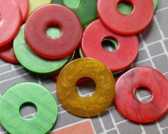 5 Vintage Bakelite Tokens