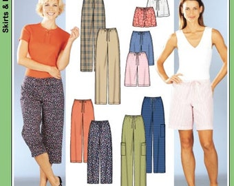 Simplicity Pattern 7092 Misses' Drawstring Pants, Capri's and Shorts in Two Lengths Sizes XS-XL : 6-24 NEW
