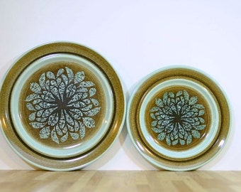 Vintage Franciscan Earthenware Plates Nut Tree Pattern Salad Plate and Dinner Plate One of Each Oven Safe
