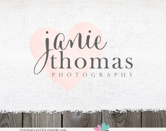 Photography Logo -  Premade Logo - Text Logo for photographer - Heart Logo - gold logo -shop Logo - Watermark Design - photographer logo