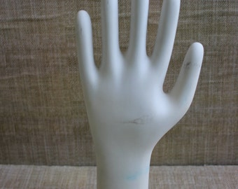 Vintage Glove Mold--Industrial Hand Mold--Ceramic Glove Mold