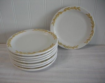 Walker Amesbury Restaurant China Plates / Restaurant Ware China / Walker Amesbury Pattern China / China Plate Set of 8 Saucers