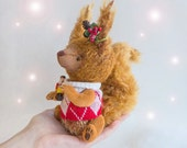 Squirrel Amy with Nutcracker - 7inches