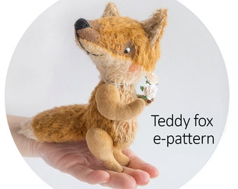 Pattern to create teddy fox of 12cm - downloadable E- pattern PDF