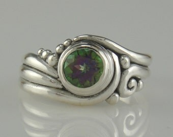 Sterling Silver Mystic Topaz Ring- One of a Kind