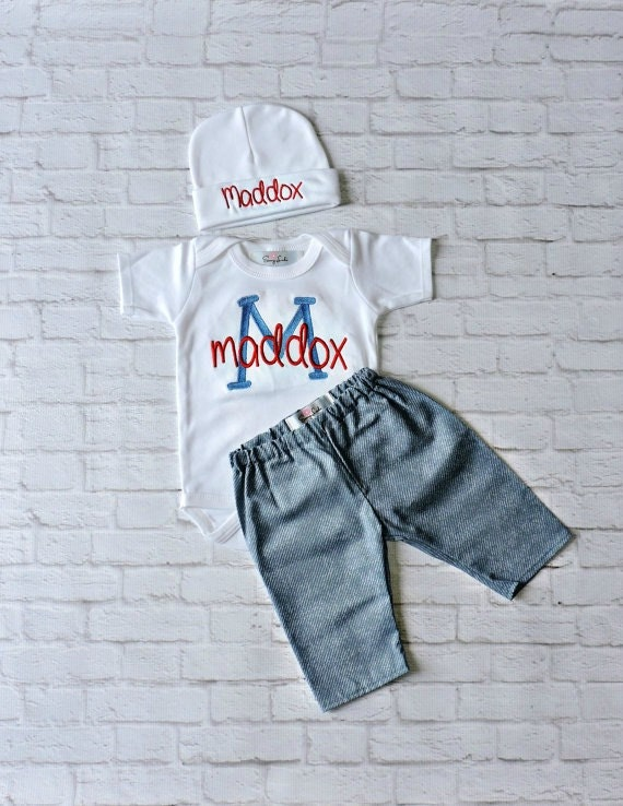 Personalized Baby Boy Clothes NewbornBoy take home outfiit