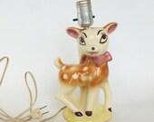 Ceramic Deer Lamp Nursery Bedroom Table Desk Nightstand Bureau Bedroom Decor