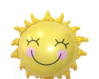 "You Are My Sunshine Smiling Sun Large 29"" Mylar Balloon for Baby Shower or Summer Birthday Party"