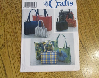 DIY Handbags, Purses, Luggage & Tote Bags - Sewing Pattern Simplicity Crafts 8331