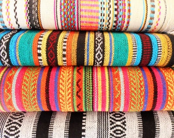 Yoga Mat Bags - Amazing MEXICAN WOVEN Fabrics - made to order - roomy, easy to use, extra wide draw string close - Pure Cotton