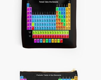 Periodic Table Pouch or Tote Bag