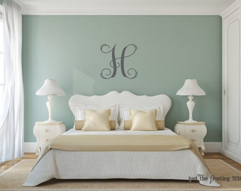 Monogram Decal   Vine Monogram Wall Decal   Personalized Monogram Decal    Nursery Wall Decal