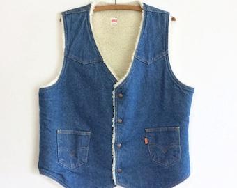 Vintage Levi's Jean Sherpa Lined Vest