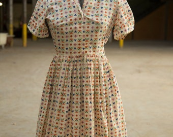 1950s floral dress with pockets