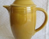 RESERVED for R.F. SANDBERG Fiesta Ironstone - Covered Coffee Pot - 1969 - Yellow - Gold - Homer Laughlin