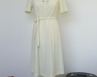 Light Lemon Yellow Towelling Dress