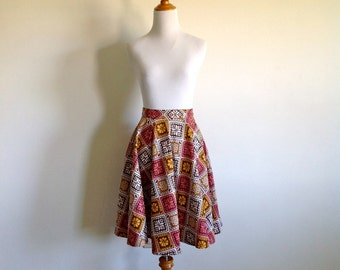 Mid Century Circle Skirt - Size Small