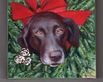 Pet Portrait, CUSTOM Pet Painting, Custom Animal Painting, Several sizes Available, Special Gift, Small Painting 4x4, 5x7, 6x6, Small Gift