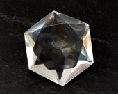 Rock Crystal Hexagonal Star Stone (21mm x 19m x 9mm) - Quartz Crystal - Natural Gemstone