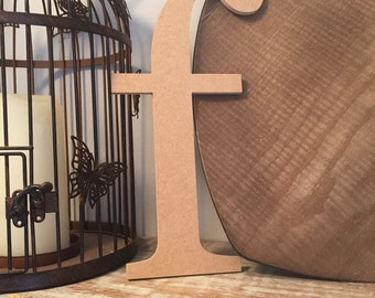 wooden letters, wall letter, not free-standing - unpainted, Roman font, letter f,  27cm - READY TO SHIP