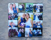 "Personalized Sister Gift, Bridesmaid Collage Picture Frame, Custom Maid of Honor Frame, Best Friends Gift, Parent Gift, 8"" x 8"" Frame"