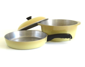 "Club Aluminum Dutch Oven 5 Qt, 10"" Skillet Harvest Gold Club Cookware Pots & Pans Dutch Ovens Skillets"