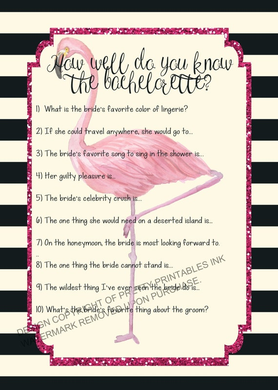 INSTANT DOWNLOAD printable bachelorette game ...
