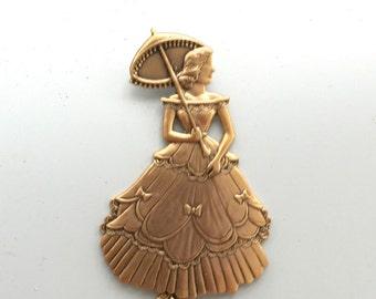 Gold Fair Lady with Umbrella  (1 pc)