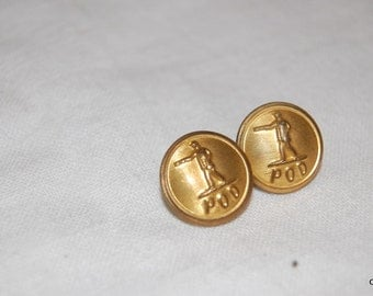 pair of Brass buttons for the Postal Service