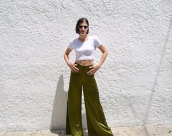 Olive Silky Pajama Trouser Pant