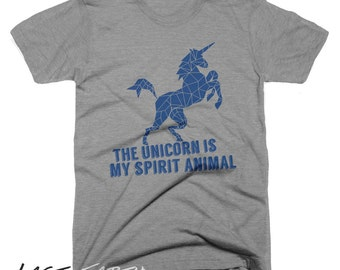 The Unicorn Is My Spirit Animal T Shirt Funny Mythical Horse T Shirt Gifts For Geeks Mens Womens T Shirt Vintage T Shirt Animal Humor Tees