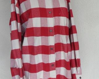 Vintage Shirt Flannel Buffalo Plaid by L L Bean Women's XL