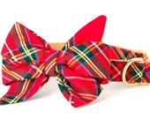 Crew LaLa™ Scottish Tartan Belle Bow Dog Collar
