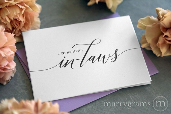 Father In Law Wedding Gifts: Wedding Card To Your New Mother And Father In-Law Inlaws