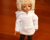 YoSD White Hoodie For Ball Jointed Dolls