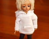 YoSD White Hoodie For Ball Jointed Dolls - Free Shipping Black Friday Cyber Monday