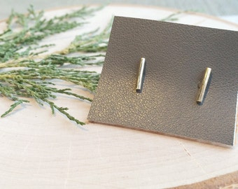 Brass Bar Studs | Brass Earrings | Bar Earrings | Simple Earrings | Modern Jewelry