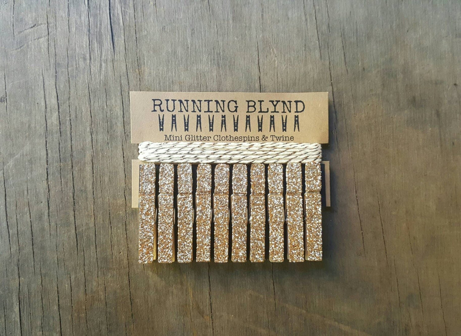 champagne gold glitter mini clothespins with twine party decor wedding decor mini clothespins glitter clothespins party supplies