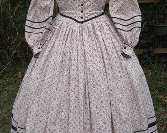 Civil War Era Calico Day Dress