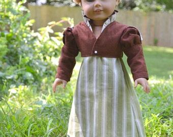 Doll Dress Regency Jacket Spencer American Girl 18 inch doll Caroline