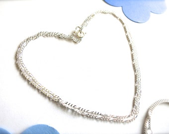 Dainty Sterling Silver Link Chain Necklace-18 inch-Solid .925-Silver Chain & Clasp-DIY Charm-Bridesmaids-Holiday Gift for Her-Christmas Gift